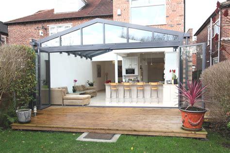 modern glass  aluminum conservatory extending