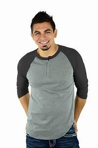 3 4 Raglan Henley Shirts Mato Hash