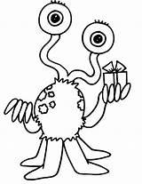 Coloring Monster sketch template