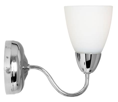 virgo chrome effect single wall light departments diy