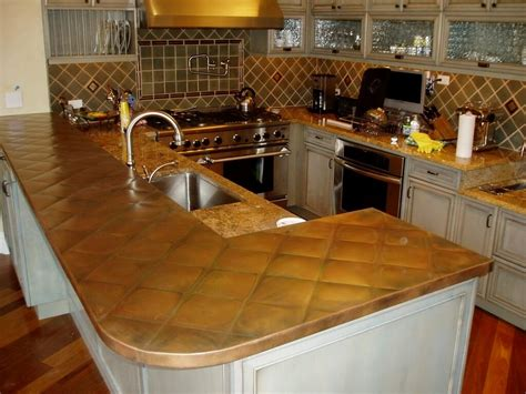 copper top kitchen island copper kitchen countertops kitchen design ideas 5805
