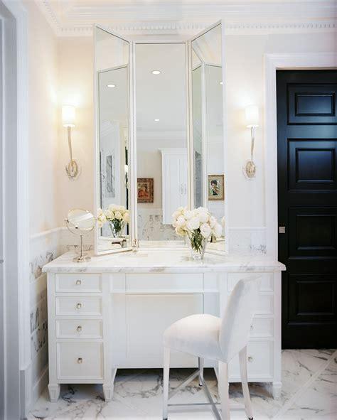 glamorous white mirrored bedroom vanities makeup tables