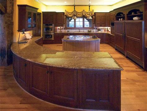 kitchen island and breakfast bar pictures of log home kitchens times guide to log homes