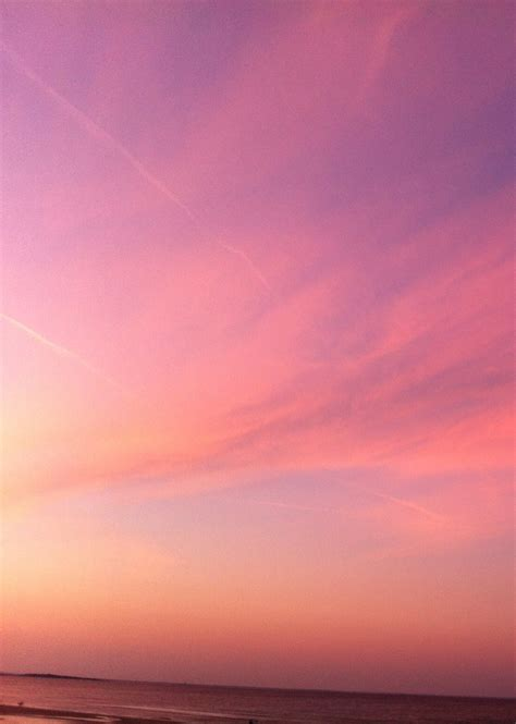 bright pink sunset sky color inspiration nature