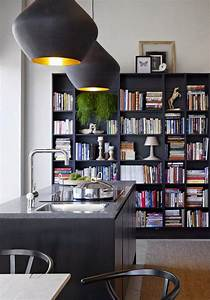 decorating, the, kitchen, with, bookshelves