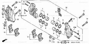 Honda Motorcycle 2004 Oem Parts Diagram For Front Brake