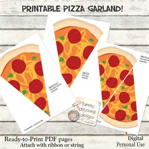 Ninja Turtle Decorations Diy by Pizza Party Banner Garland Printable Pizza Party By