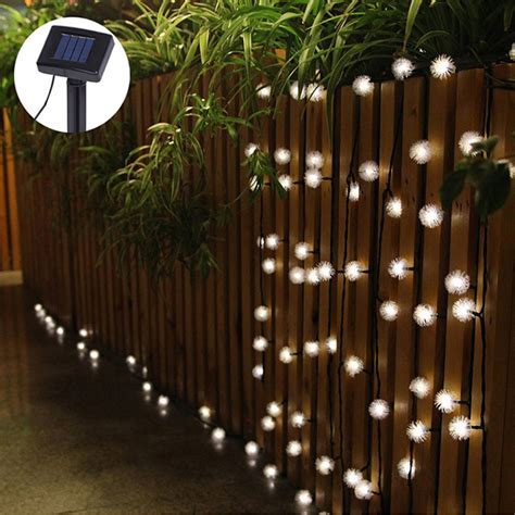 luminaria 4 8m 20 led string lights fuzzy led solar