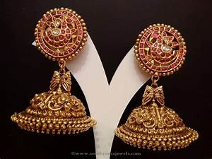 22 Carat Gold Jhumka Designs Gold Antique Ruby Jhumkas From Naj Gold Jewellery Design