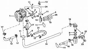 Johnson Vro Pump Parts For 1986 40hp J40elcde Outboard Motor