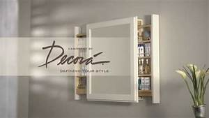 decora pullout bath mirror youtube With pull out mirror bathroom