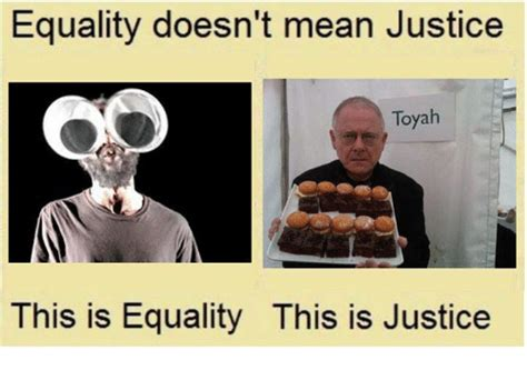 Equality Meme - equality doesn t mean justice toyah this is equality this is justice equalizer meme on sizzle