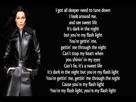 lagu karaoke j flashlight lyrics