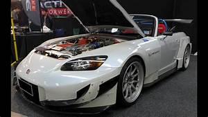 Modified Honda S2000  Ap2  Wide Body Kit And Volk Racing