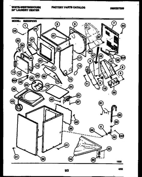 white westinghouse sm230pxw3 v1 24 quot washer dryer combo parts and accessories at partswarehouse
