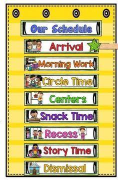 classroom schedule images preschool classroom