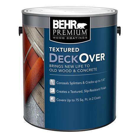behr premium textured deckover  gal textured wood