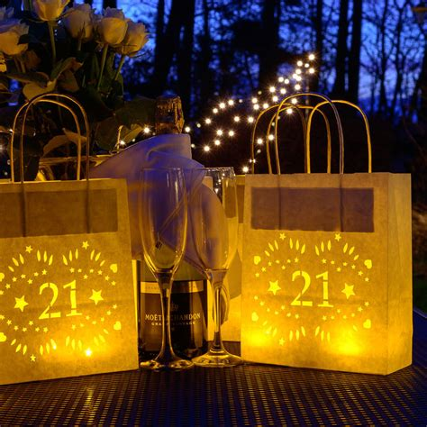 21st birthday paper lantern bag decoration by