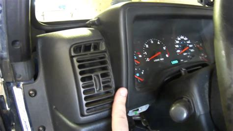 jeep wrangler dashboard lights diy instrument cluster removal jeep tj youtube