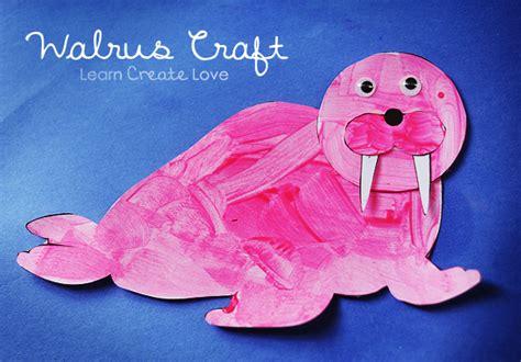 printable walrus craft shesaved