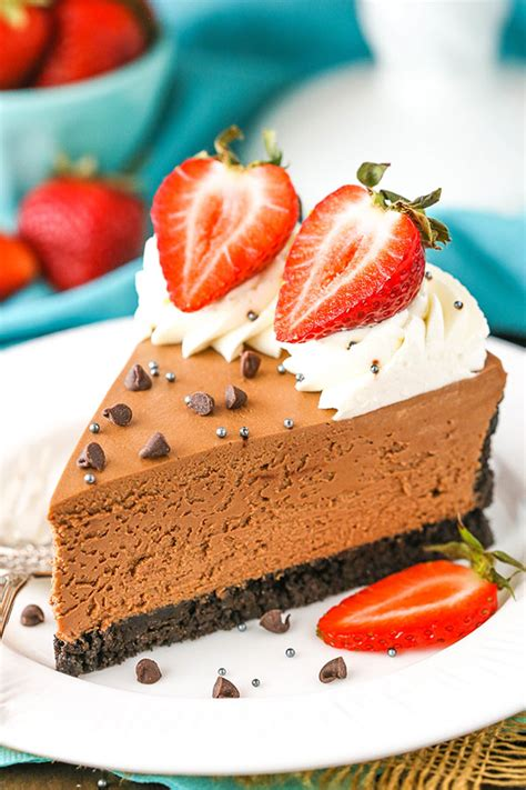 Easy No-Bake Chocolate Cheesecake Recipe | Life, Love and ...