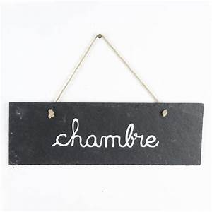 Prix D Une Porte De Chambre : plaque de porte ardoise chambre gris ~ Premium-room.com Idées de Décoration