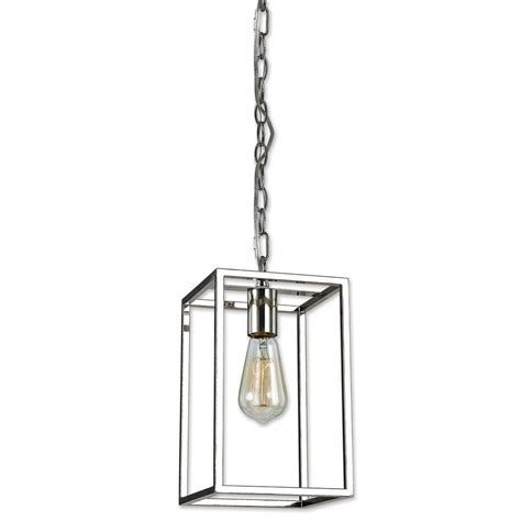 decor living mateo 1 light polished nickel pendant 7479p