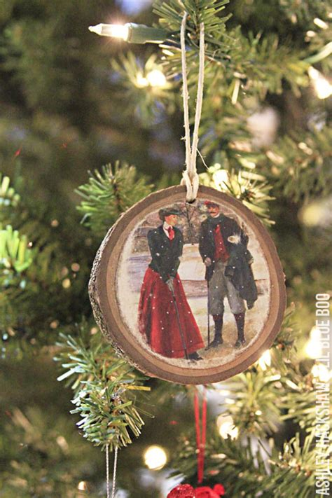 recycled christmas card ornaments ashley hackshaw lil