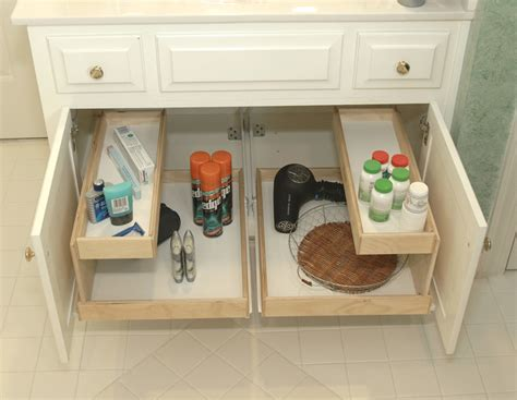 under cabinet shelving bathroom bathroom pull out shelves other metro by shelfgenie of