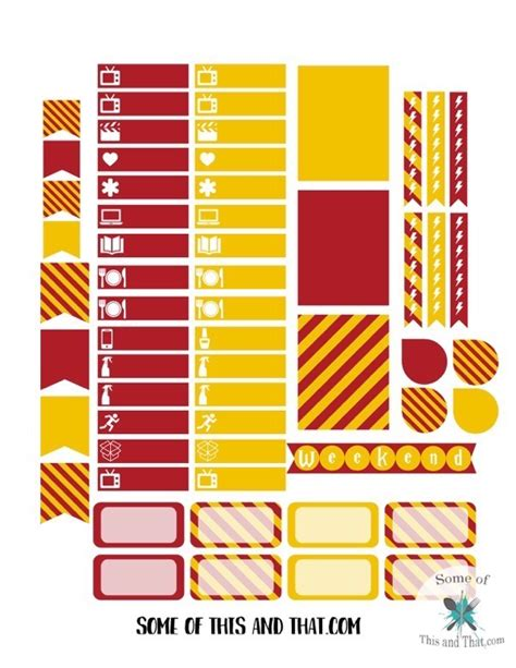 house planner free harry potter planner stickers some of this and that