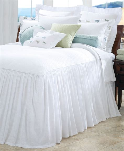 seersucker bedspreads casilda classic seersucker gathered bedspread home bed spreads striped bedding bed
