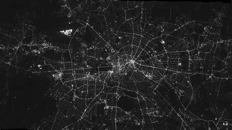 nighttime aerial mosaic  berlin