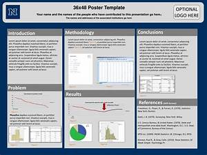 ppt 36x48 poster template powerpoint presentation id With how to make a poster template in powerpoint
