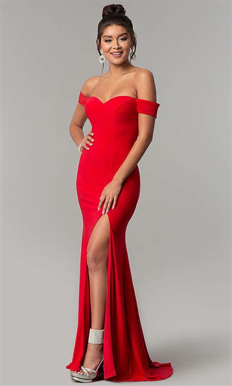 long formal   shoulder prom dress promgirl