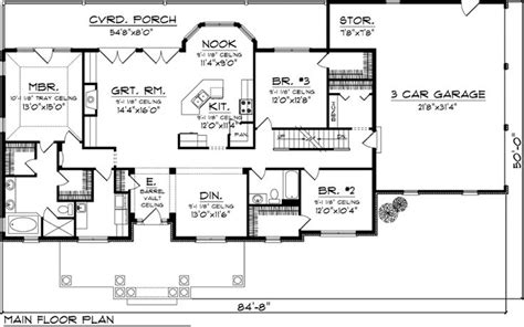 simple rectangle house designs placement ranch house plan 73152 house plans nooks and breakfast