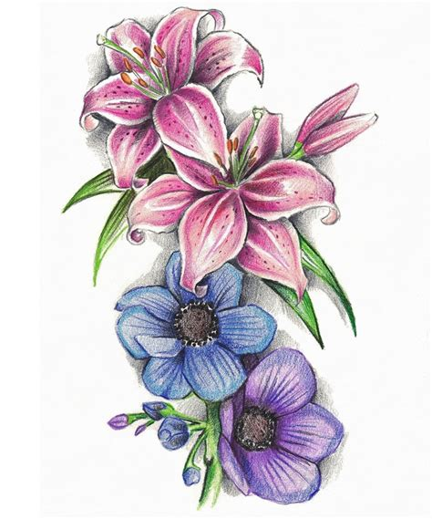 design of flower flower tattoo designs the body is a canvas