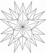 Coloring Pages Printable Stars Star Adult Shapes Drawing Simple sketch template
