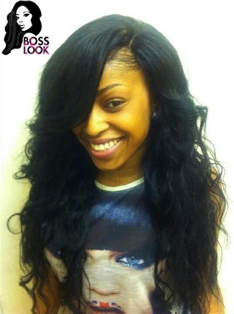 Side Part Sew Ins With Straight Hair hairstylegalleriescom