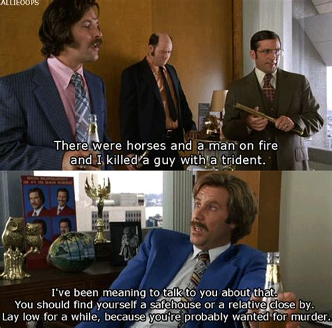 ron burgandy the news crew discuss the deadly rumble