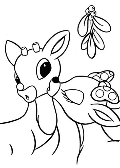 rudolph reindeer coloring pages   print