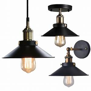 Industrial factory ceiling light pendant wall lamp sconce