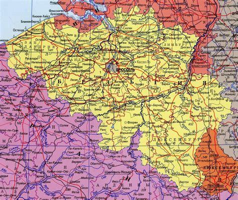 Подробная карта Бельгии на русском языке с городами. Где находится Бельгия на карте мира ...