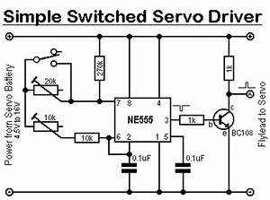 Simple switched servo driver for Servodriveschematic