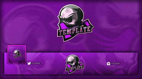 Free Gaming/clan Skull Mascot Logo / Banner / Avatar