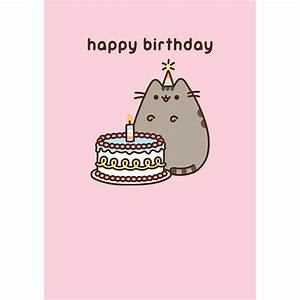 Pusheen Birthday Cake card — MeowCo