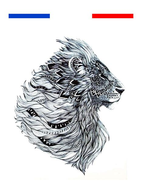 tatouage temporaire lion tribal boheme afrique mon petit