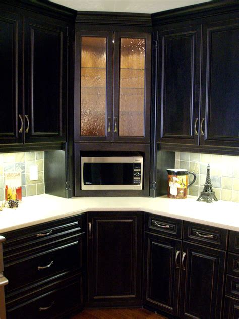 kitchen corner wall cabinet with glass doors corner built in microwave cabinet with glass door