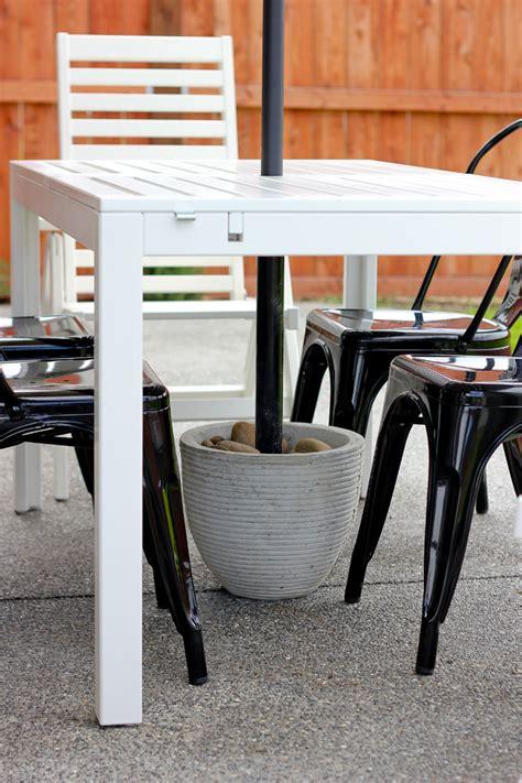 diy patio umbrella stand tutorial