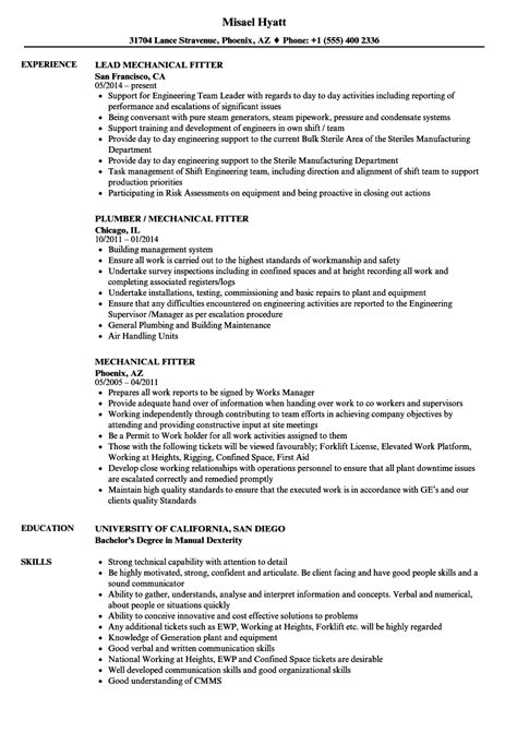 fitter machinist cover letter iti fitter resume format www hooperswar exaple
