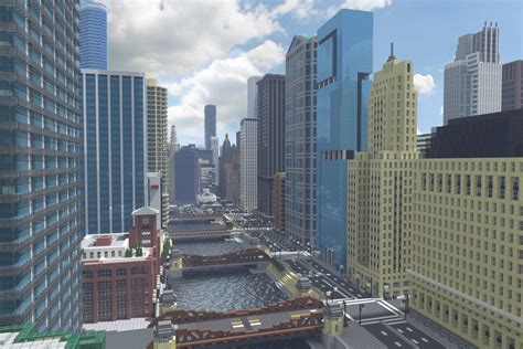recreating chicagos famous skyline  minecraft curbed